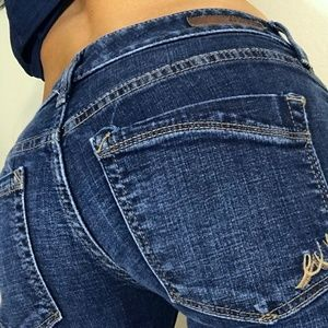 Express Barely boot stella low rise jeans 4